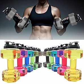 """cheap Bikes-Kettle Dumbbells Drinking Water Bottles 11"""" (28 cm) Diameter Plastics BPA free Personalized 2.2L Creative Exercise & Fitness Gym Workout For Unisex"""