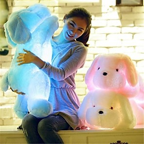 cheap Stuffed Animals-Stuffed Animal Plush Toys Plush Dolls Stuffed Animal Plush Toy Romance Dog Cute LED Light Lovely Music & Light Comfy Giant Big Imaginative Play, Stocking, Great Birthday Gifts Party Favor Supplies