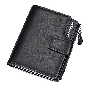 cheap Videogame Cosplay Accessories-Men's Bags PU Leather Wallet Zipper for Shopping Black / Blue / Coffee