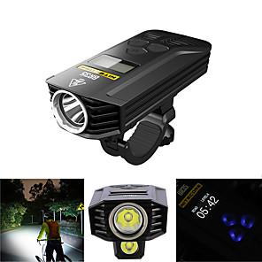 povoljno Baterijske svjetiljke-Dva LED svjetla Svjetla za bicikle Prednje svjetlo za bicikl Svjetlo za bicikle Bicikl Biciklizam Vodootporno Višestruka načina Super Bright Daljinsko upravljanje 1800 lm Može se puniti USB Biciklizam