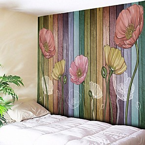 cheap Wall Stickers-Architecture Wall Decor Polyester Vintage Wall Art, Wall Tapestries Decoration