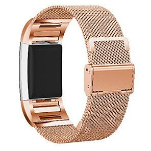 cheap Smartwatch Bands-Watch Band for Fitbit Charge 2 Fitbit Milanese Loop Stainless Steel Wrist Strap