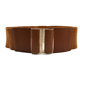 cheap Party Sashes-Women's Active / Basic Alloy Wide Belt - Solid Colored