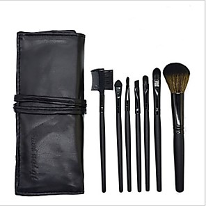 cheap Makeup Brush Sets-Professional Makeup Brushes Makeup Brush Set 7 PCS Eco-friendly Professional Full Coverage Synthetic Hair / Artificial Fibre Brush Wooden Makeup Brushes for