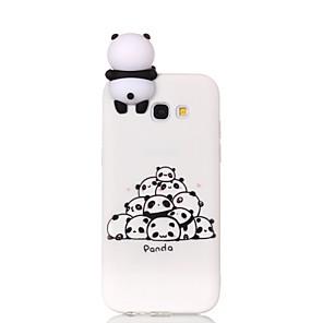 cheap iPhone Cases-Case For Samsung Galaxy A3(2017) / A5(2017) / A5(2016) Pattern / DIY Back Cover Cartoon / Panda Soft TPU