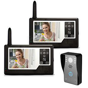 cheap Video Door Phone Systems-MOUNTAINONE SY3501A12 Wireless 3.5 inch 960*480Pixel One to Two video doorphone