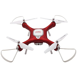 cheap Toy Cars-RC Drone SYMA X25W 4 Channel 6 Axis 2.4G With HD Camera 2.0MP 720P RC Quadcopter FPV / One Key To Auto-Return / Headless Mode RC Quadcopter / Remote Controller / Transmmitter / 1 USB Cable Lead