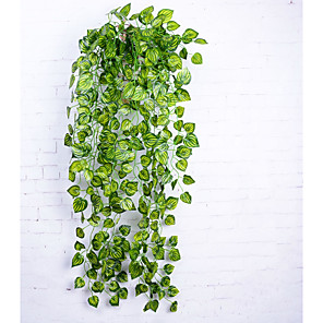 cheap Artificial Plants-Artificial Flowers 1 Branch Simple Style Pastoral Style Plants Wall Flower