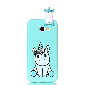 cheap iPhone Cases-Case For Samsung Galaxy A3(2017) / A5(2017) / A5(2016) Pattern / DIY Back Cover Unicorn Soft TPU