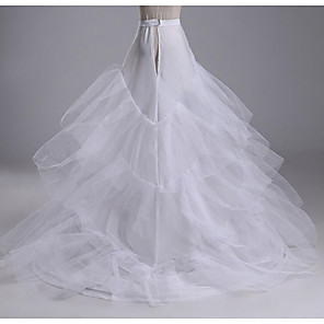 cheap Wedding Slips-Wedding / Party Slips Cotton Cathedral-Length Chapel Train / Irregular Style with Gore