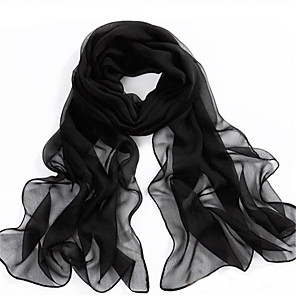 cheap Wedding Wraps-Women's Polyester / Chiffon Rectangle Scarf - Solid Colored Mesh