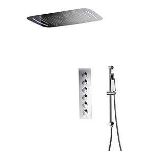 povoljno Tuš s kišnim mlazom-Slavina za tuš - Suvremena Chrome Zidne slavine Keramičke ventila Bath Shower Mixer Taps / Brass