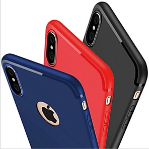 cheap iPhone Cases-Case For Apple iPhone X / iPhone 8 Plus / iPhone 8 Frosted Back Cover Solid Colored Soft Silicone