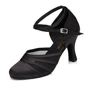 cheap Men's Bags-Women's Modern Shoes / Ballroom Shoes Synthetic Heel Cuban Heel Dance Shoes Black / Purple / Practice / EU39