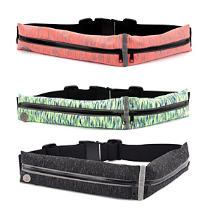 cheap Running Bags-Running Belt Fanny Pack Running Waist Belt for Running Marathon Climbing Cycling / Bike Sports Bag Multifunctional Waterproof Lightweight TPU Polyester Elastane Running Bag / Reflective Strips