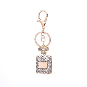 cheap Keychains-Keychain Bottle Casual Fashion Ring Jewelry Gold For Gift Daily