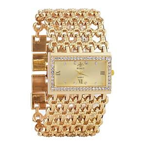 baratos Relógios de Pulseira-Mulheres Relógio de Pulso Relógio de diamante Relogio Dourado Quartzo Luxo Cronógrafo Prata / Dourada Analógico - Dourado Prata Um ano Ciclo de Vida da Bateria / imitação de diamante / SSUO LR626