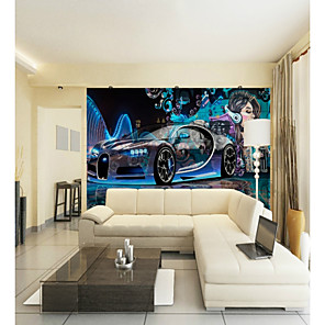 cheap Wallpaper-Custom Sci-Fi Car Beauty Large Wall Covering Mural Wallpaper Suitable for Office Bedroom Restaurant Technology