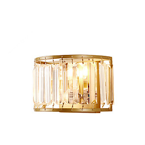 cheap Indoor Wall Lights-ZHISHU Crystal / Mini Style Tiffany / Rustic / Lodge Wall Lamps & Sconces Living Room / Bedroom / Dining Room Metal Wall Light 110-120V /