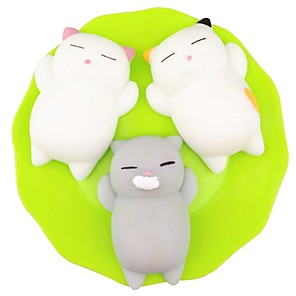 cheap RC Cars-Squishy Squishies Squishy Toy Squeeze Toy / Sensory Toy Stress Reliever Cat Mini Kawaii Mochi For Kid's Adults' Children's Boys' Girls' Gift Party Favor 3 pcs