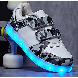 cheap Kids' LED Shoes-Boys' Sneakers LED / Comfort / LED Shoes PU Little Kids(4-7ys) / Big Kids(7years +) Luminous White / Black / Green Fall / EU36