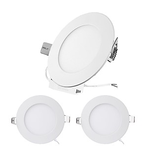 cheap LED Recessed Lights-ZDM® 3pcs 6 W 30 LED Beads Easy Install Recessed LED Panel Lights LED Downlights Warm White Cold White Natural White 12 V 24 V Ceiling Commercial Home Office
