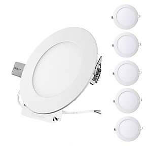 cheap LED Recessed Lights-ZDM 6PCS 3W Round Flat LED Panel Light LampUltra-thin LED Recessed Ceiling Light Natural White / Cold White / Warm White AC85-265V