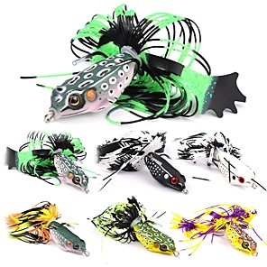 cheap Fishing Lures & Flies-6 pcs Fishing Lures Hard Bait Frog Outdoor Sinking Bass Trout Pike Bait Casting Lure Fishing General Fishing Plastic