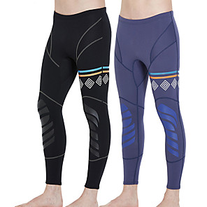cheap Wetsuits, Diving Suits & Rash Guard Shirts-Men's Wetsuit Pants 1.5mm CR Neoprene Tights Bottoms UV Sun Protection Ultraviolet Resistant Knee Pads - Outdoor Exercise Diving / Boating Watersports Solid Colored Spring, Fall, Winter, Summer