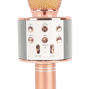cheap Microphones-Other Dynamic Microphone WS858 Wireless Bluetooth for Studio Recording & Broadcasting Bar Karaoke Microphone