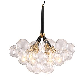 cheap Pendant Lights-JLYLITE 6-Light 65 cm Chandelier Metal Glass Cluster Electroplated Contemporary / Artistic 110-120V / 220-240V