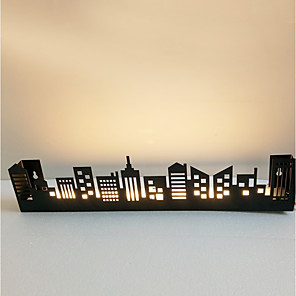 cheap Flush Mount Wall Lights-Novelty Picture Wall Lights Bedroom / Study Room / Office / Indoor Metal Wall Light IP44 220-240V 8 W / LED Integrated