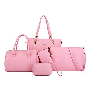 cheap Wedding Slips-Women's Bags PU Leather Bag Set 5 Pieces Purse Set Zipper for Daily / Office & Career Black / Blue / Purple / Bag Sets / Fall & Winter