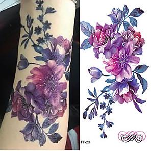 cheap Tattoo Stickers-3 pcs Tattoo Stickers Temporary Tattoos Flower Series / Romantic Series Body Arts Brachium