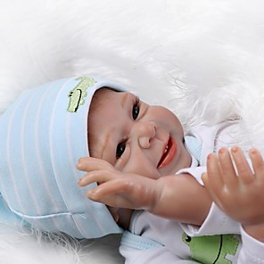 cheap Reborn Doll-NPKCOLLECTION 20 inch NPK DOLL Reborn Doll Girl Doll Baby Girl Newborn lifelike Cute Child Safe Hand Applied Eyelashes Cloth 3/4 Silicone Limbs and Cotton Filled Body with Clothes and Accessories for