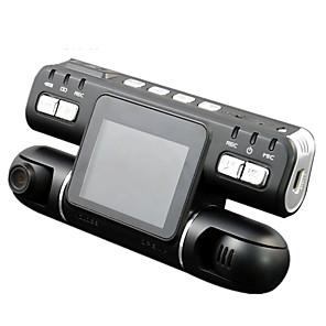 billige Lydanlæg til bilen-F105 1080p Nattesyn / 360 ° overvågning / Dual Lens Bil DVR 120 grader Vidvinkel CMOS 2.7 inch LCD Dash Cam med Bevægelsessensor Biloptager