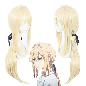 cheap Synthetic Trendy Wigs-Violet Evergarden Violet Evergarden Cosplay Wigs Women's 30 inch Heat Resistant Fiber Anime Wig