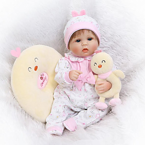 cheap Reborn Doll-NPKCOLLECTION 16 inch NPK DOLL Reborn Doll Newborn lifelike Cute Child Safe Non Toxic with Clothes and Accessories for Girls' Birthday and Festival Gifts