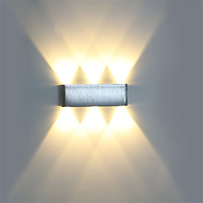 cheap Flush Mount Wall Lights-Modern 6W LED Wall Sconce Light Fixture Indoor Hallway Wall Lamp Aluminum Decorative Lighting LED Integrated  Vanity Light