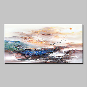cheap Abstract Paintings-Oil Painting Hand Painted - Abstract Landscape Classic Modern Canvas