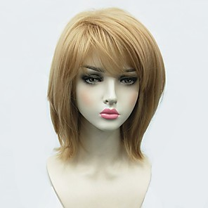 cheap Synthetic Trendy Wigs-Synthetic Wig Straight Bob Side Part Wig Blonde Medium Length Blonde Synthetic Hair Women's African American Wig Blonde StrongBeauty