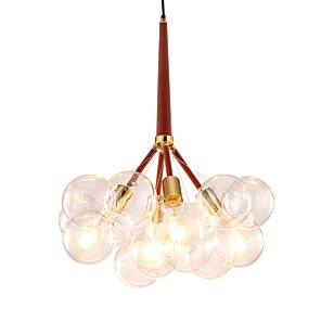 cheap Sputnik Design-JLYLITE 4-Light 55 cm Chandelier Metal Glass Cluster Electroplated Contemporary / Artistic 110-120V / 220-240V