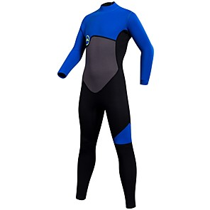 cheap Wetsuits, Diving Suits & Rash Guard Shirts-SBART Boys' Full Wetsuit 2mm CR Neoprene Diving Suit Thermal / Warm Quick Dry Long Sleeve Back Zip - Diving Water Sports Solid Colored Summer / Stretchy / Kid's