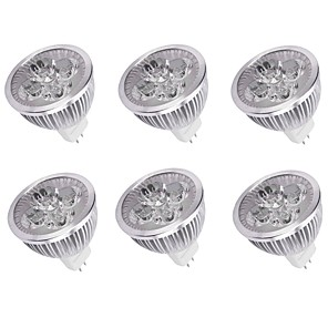 cheap LED Spot Lights-6pcs 4 W LED Spotlight 350 lm MR16 4 LED Beads High Power LED Decorative Warm White Cold White 12 V