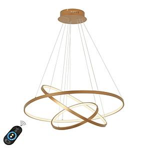 cheap Pendant Lights-1-Light Ecolight™ 80 cm Chandelier Aluminum Circle Painted Finishes LED 110-120V / 220-240V