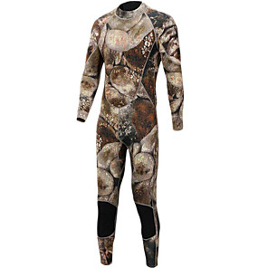 cheap Wetsuits, Diving Suits & Rash Guard Shirts-Bluedive Men's Full Wetsuit 3mm Neoprene Diving Suit Warm Long Sleeve Back Zip - Diving Surfing Watersports Print Camouflage All Seasons