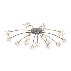 cheap Ceiling Lights-15-Light JLYLITE 80 cm Mini Style Flush Mount Lights Metal Glass Electroplated Artistic / Nature Inspired 110-120V / 220-240V / G4 / SAA / FCC / VDE