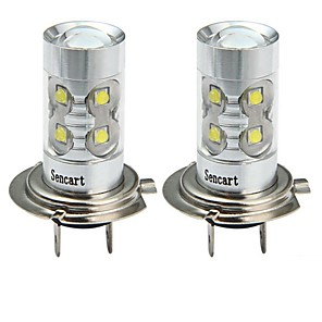cheap Car Headlights-SENCART 2pcs H7 Motorcycle / Car Light Bulbs 50W SMD LED 3100lm 10 LED Fog Light For universal All years