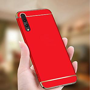 cheap Huawei Case-Case For Huawei Huawei P20 / Huawei P20 Pro / Huawei P20 lite Plating / Ultra-thin Back Cover Solid Colored Hard PC / P10 Plus / P10 Lite / P10