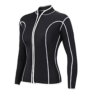 cheap Wetsuits, Diving Suits & Rash Guard Shirts-Women's Wetsuit Top 2mm Spandex Neoprene Diving Suit Top Waterproof Long Sleeve Swimming Diving Surfing Solid Colored Winter / Stretchy